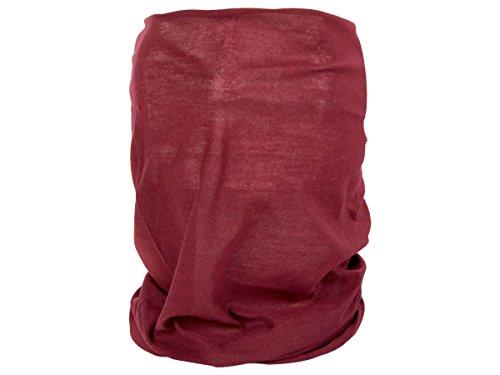 Alsino Multifunktionstuch Schlauchtuch Halstuch Multischal Multiscarf alle Farben, Variante wählen:MF-209 bordeaux