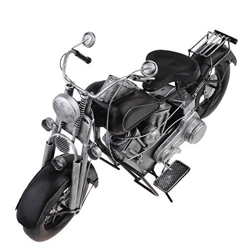 Garneck Motorrad Fahrrad Fahrrad Modell Metall Motorrad Modell Kunst Skulptur Sammlerstück für Home Office Dekoration (Silber)