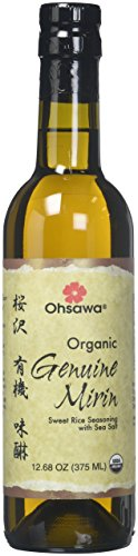 Ohsawa Genuine Mirin, Organic Sweet Rice Seasoning Wine for Traditional Japanese Cuisine, Aged over 9 Months for Umami Flavor –Traditionally Handcrafted, Non-GMO, Gluten Free - 12.68 oz