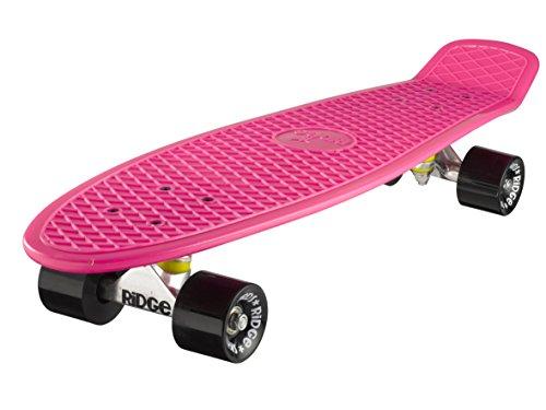 Ridge Skateboard Big Brother Nickel 69 cm Mini Cruiser, rosa/schwarz