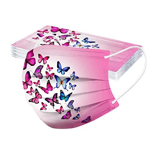 RUITOTP 10 Stück Gesichtsschutz Schmetterling Einweg 3-lagiges Baumwolltuch Halstuch Multifunktionstuch Verhindern Sie das Beschlagen der Brille
