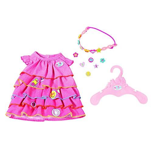 Zapf Creation 824481 BABY born Sommerkleid Set mit Pins Puppenkleidung 43 cm, bunt