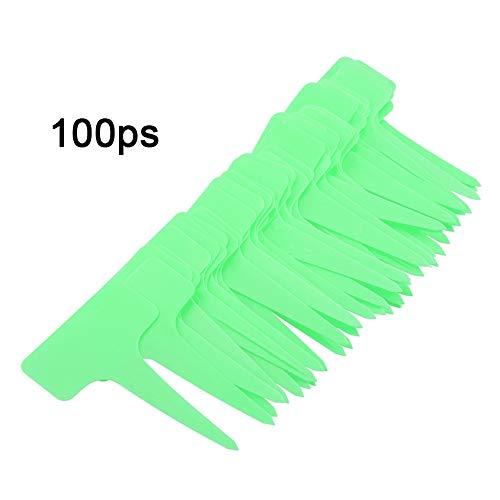 Jadpes Marqueurs d'étiquettes de Type T, 50 PCS Plastic Plant Marqueurs d'étiquettes de Type T(Vert)