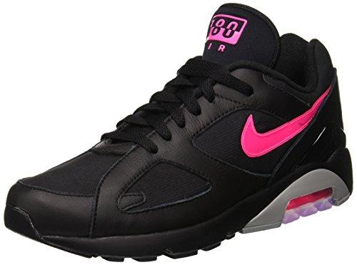 Nike Herren Air Max 180 Gymnastikschuhe, Schwarz (Black/Pink Blast/Wolf Grey 001), 44.5 EU