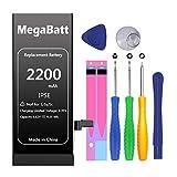 MegaBatt Battery for iPhone SE, 2200mAh High Capacity Replacement Battery...