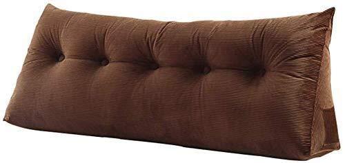 B-fengliu Dreieckige Nachtkissen/Lendenkissen Sofakissen Kopf Weiche Tasche Einfache Bettruhe Stuhl Rückenlehne (Color : Brown, Size : 90 * 20 * 50 cm)