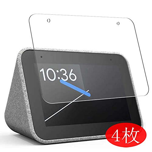 【4 Pack】 Synvy Screen Protector for Lenovo Google Assistant Equipped Alarm Clock Smart Clock TPU Flexible HD Clear Case-Friendly Film Protective Protectors [Not Tempered Glass]