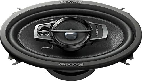 "Pioneer 4"" X 6"" 200 Watts Max 3-Way A-Series Car Audio Coaxial Speakers with Carbon and Mica Reinforced IMPP Woofer - Pair with Alphasonik Earbuds"