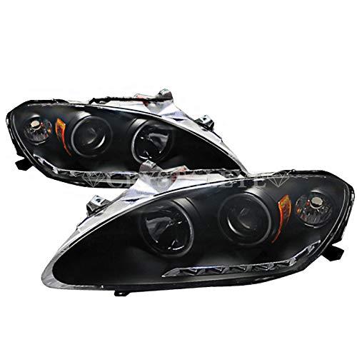 ホンダ S2000 CCFL イカリング プロジェクターヘッドライト ブラックタイプ LEDポジション内蔵 アウディルック LA-AP1/ABA-AP2