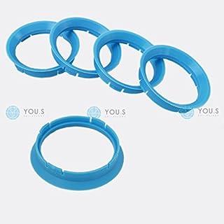 4 Anelli boccola di centraggio in plastica per cerchi in lega da 73,1 a 56,6 R14