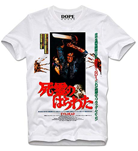 DOPEHOUSE T-Shirt Army of Darkness Evil Dead Horror Cult Movie Boomstick Retro Vintage Armee der Finsternis Japan Japanese M White