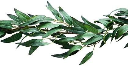 Bergh Floral Greenery Garland Artificial Eucalyptus Faux Plant Vine | Wedding Home Decor 4.2 ft