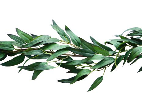 Greenery Garland Artificial Eucalyptus Faux Plant Vine | Wedding Home Decor by Bergh Floral 4.2 ft