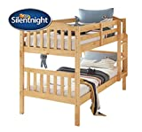 Silentnight Kids Bunk Bed Mattress | Open Coil Spring Support | Foam & Chemical Treatment Free | Hypoallergenic | Single