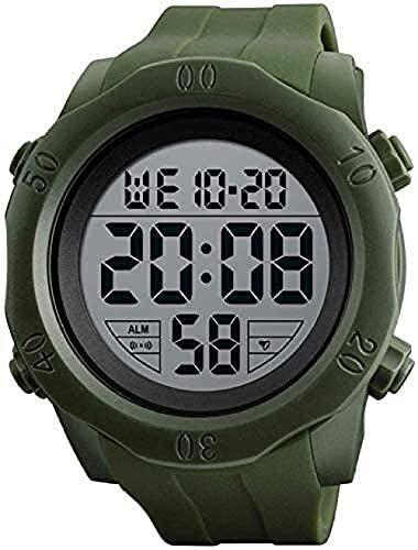 XYJ Reloj electrónico Deportivo Multifuncional Men S Aprendizaje afuera Forme a Prueba de Agua Reloj Digital Luminoso SmartWatches