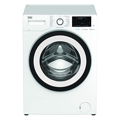 Beko WMY81466ST1 Waschmaschine/Touch-Display /Startzeitvorwahl/1400 U/min/ Bluetooth/10 Jahre Motorgarantie/ Dampffunktion/Nachlegefunktion/ Watersafe+/ Energieklasse C