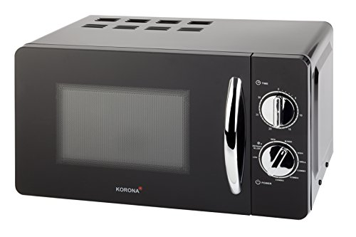 Korona- Mikrowelle 58040 I 700 W I 20 Liter I 5 Leistungsstufen I Grillfunktion | Schwarz