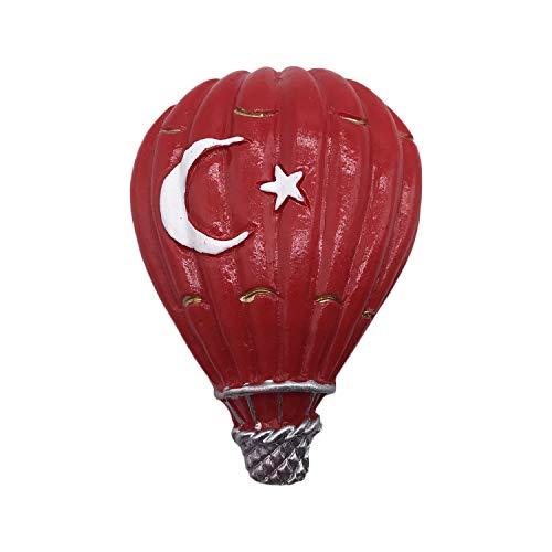 3D Feuer Ballon Türkei Flagge Kühlschrank Kühlschrankmagnet Tourist Souvenirs Handmade Harz Handwerk Magnetische Aufkleber Home Küche Dekoration Reise Geschenk