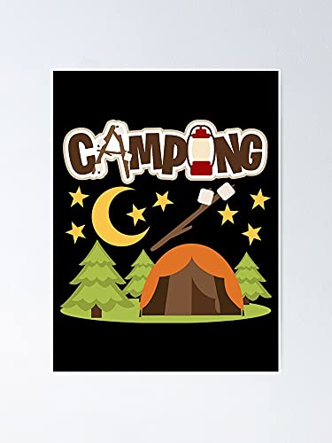 MCTEL Camping Adventurer Poster | No Frame Board For Office Decor, Best Gift Family And Your Friends 11.7 * 16.5 Inch