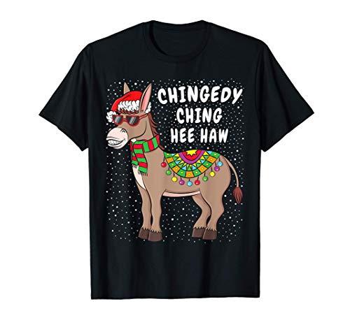 Christmas Donkey T-Shirt Funny American Italian Xmas Gift T-Shirt