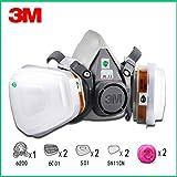 RongAIy 9in1 3M 6200 Halbmaske Atemschutzmaske Mit 6001
