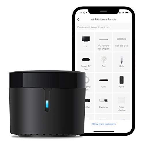 Broadlink - RM4 Mini - Mando a Distancia Universal de Audio y vídeo por Infrarrojos, Hub Remoto Wi-Fi para hogares Inteligentes, Compatible con Alexa (RM4 Mini)
