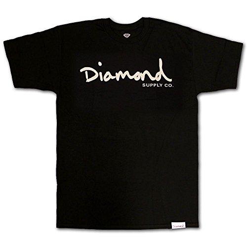 Diamond Supply Co OG Script T-Shirt Black White[M]