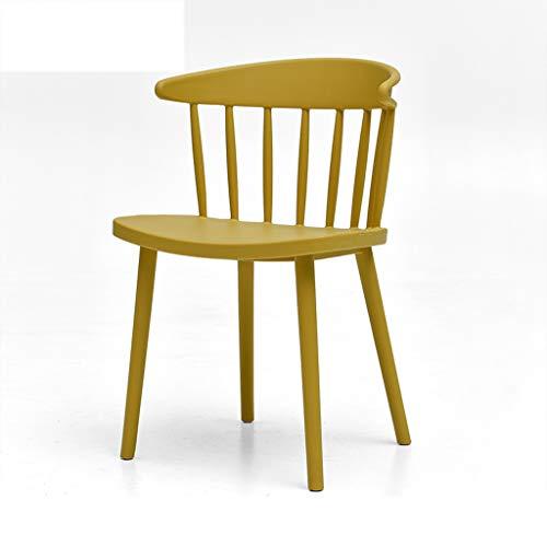LJZslhei Stuhl Startseite Einfache Stuhl Kreative Kunststoff Esszimmerstuhl Lounge Chair Moderne Zurück Schreibtischstuhl Shop Outdoor Stuhl Gelb