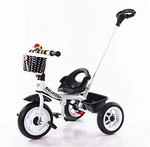 ZG-HOME Bicicleta de Equilibrio de Color para Niños,de 2 A 5 Años,Pedales 2w1,Triciclo,Bicicleta de Equilibrio para Niños,con Sillín Y Manillar Regulables En Altura,Timbre de BicicletaWhite