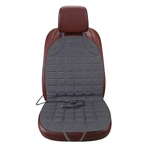 Bestine Sitzheizung Auto Auflage Heizkissen Schwarz/Grau, Universal Auto Heizauflage 12V Auto beheizbare sitzauflage (1/2 Paar)