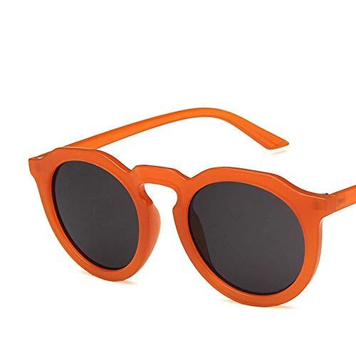 XIELH Gafas de sol Moda Ronda Naranja Hombres Mujeres Gafas de Sol...