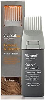 Viviscal Man Conceal & Densify Volumizing Fibers, Light Brown, 15 Gram