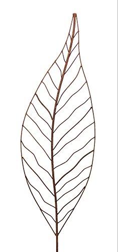 Crispe home & garden Gartenstecker Edelrost - Farn klein   Rankhilfe Gartendeko Höhe 110 cm