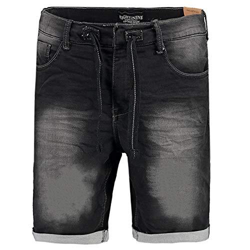 Eight2Nine Herren Jeans Shorts schwarz 34