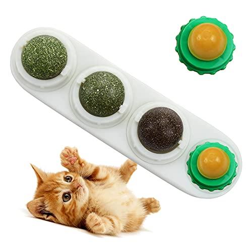LMUGOOS Catnip Licks Ball with 2 Candies-Natural Healthy...