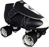 VNLA Junior Tuxedo Jam Skates - Outdoor and Indoor Unisex Roller Skates for Tricks and Rhythm Skating - Black/White (Men 6 / Women 7)