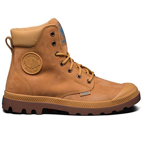 Palladium SPOR Cuf Wplu U, Sneakers Basses Mixte Adulte - - Jaune (A17 Amber Gold/Diva Blue),