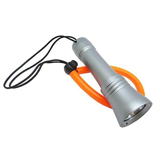 Scuba Choice Scuba - Linterna LED de Aluminio con cordón para Buceo, Color Plateado