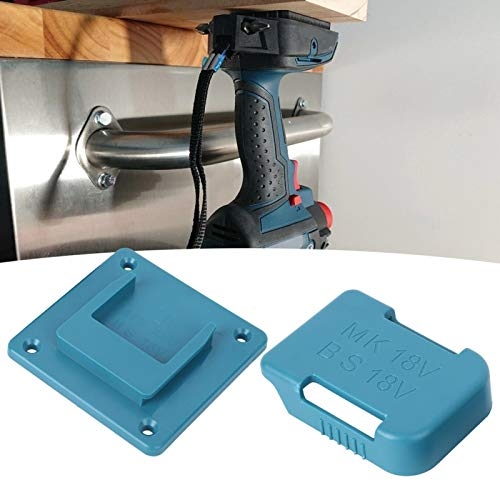 CHICIRIS Estante de Almacenamiento de batería Duradero, Soporte de fijación de batería para Destornillador, Conveniente para Viajes de baterías de 18 V(Blue)