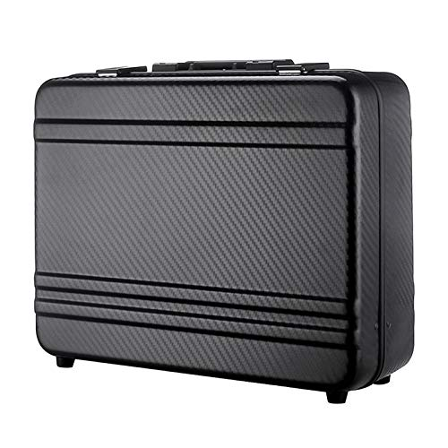 """Tokers Carrying Case briefcase for men with carbon fibre texture 18"""" Length, 14"""" Width, 5"""" Height (black)"""