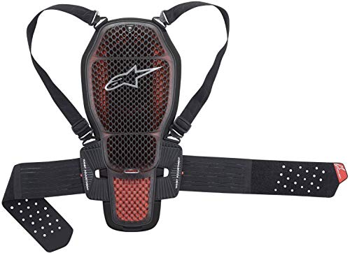 back protector NUCLEON KR-1 CELL, ALPINESTARS (transparent/smoke/red/black, size XL)