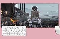 マウスパッド アニメマウスパッドNotbookコンピューターPadmouse手首サポート付きDvaマウスパッドオーバーウォッチアニメA(354X157Inch)