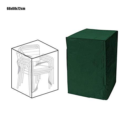 Easy-topbuy Housse De Protection pour Chaises De Empilables, Housse Chaise De Jardin Fauteuil Jardin Balcon Couverture Respirant Tissu Oxford 210D Imperméable Anti-UV