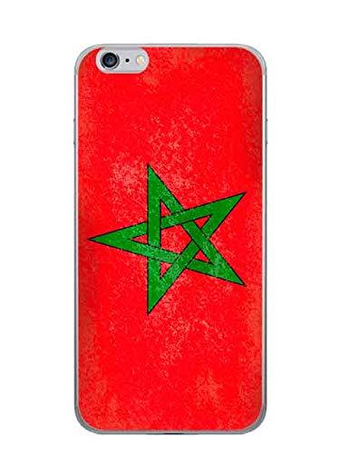 Onozo Cover Bandiera Marocco Vintage per Apple iPhone 6Plus-5.5'