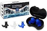 SYOSIN Tapones Oidos Natación, 3 Pares Tapones Oidos de Silicona Reutilizables Impermeable para Nadar, Ducharse, Surfear y Otros Deportes Acuáticos (Tamaño Adulto)