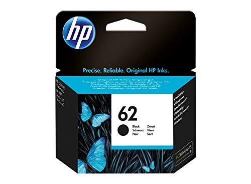HP 62 C2P04AE, Negro, Cartucho Original de Tinta, compatible con impresoras de inyección de tinta HP Envy 5540, 5640, 7640;OfficeJet 200, 250, 5740