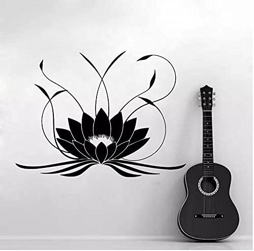 3d Mandala Lotus etiqueta de la pared PVC removible Yoga tatuajes de pared pegatinas para dormitorio sala de estar decoración del hogar Mural 43X58cm