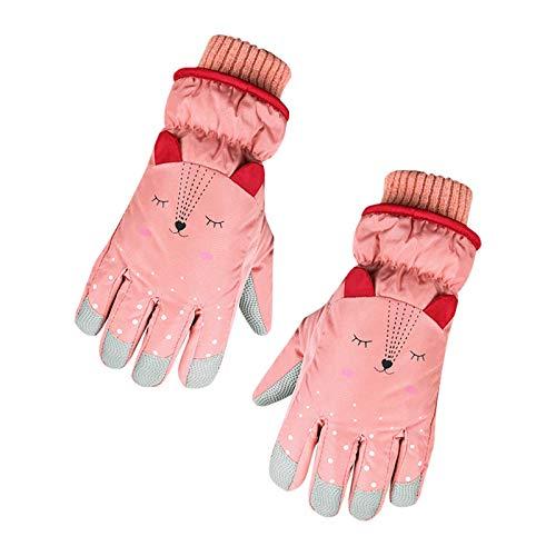 Lomelomme Skihandschuhe Kinder Winter wasserdichte Schneehandschuhe Cartoon Kinder Handschuhe Verdickt Warm...