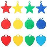 Trixes Gewichte für Helium Ballons in 20 verschiedenen Formen und Farben Sterne Herzen Smileys für...