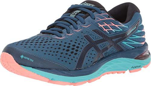 ASICS Women's Gel-Cumulus 21 G-TX Running Shoes, 6M, MAKO Blue/Midnight
